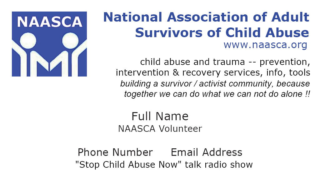 New Ways To Protect Kids From Abuse And >> Naasca National Association Of Adult Survivors Of Child Abuse